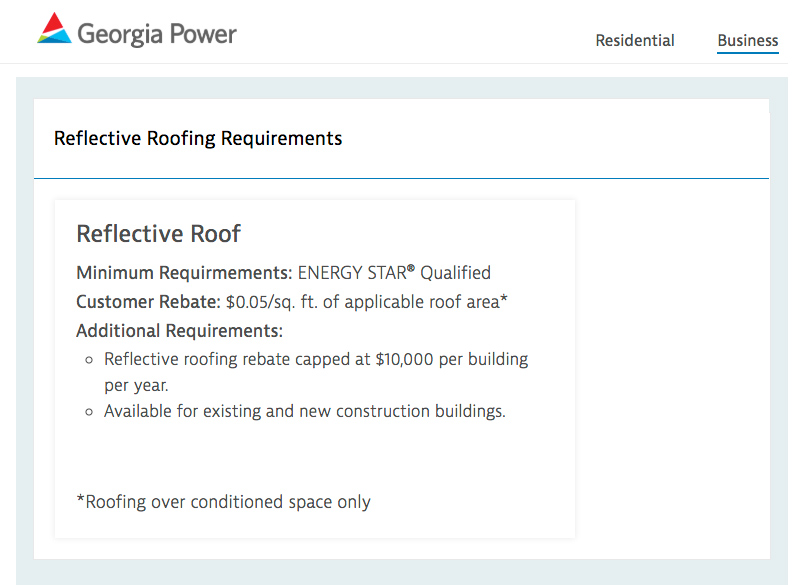 GA Power Roofing Rebate