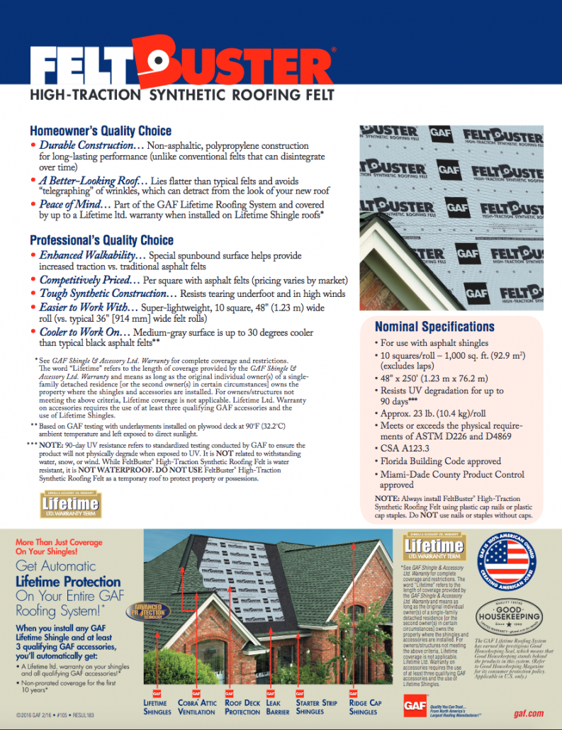 Synthetic Underlayment Academy Roofing Commercial And Residential Roofing Contractor And Repair Company In Atlanta